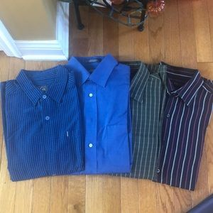 Bundle of 4 long sleeve Men's button down shirts